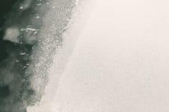 Fiume e ghiaccio congelati Immagini Stock
