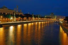 Fiume e kremlin Fotografia Stock Libera da Diritti