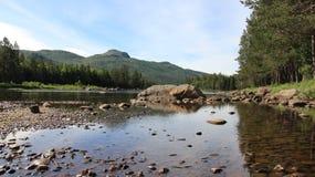 Fiume e Mountain View Immagine Stock Libera da Diritti