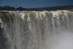 Fiume e Victoria Falls di Zambesi zimbabwe Fotografia Stock