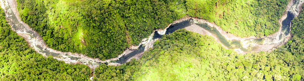 Fiume Ecuador di Pastaza fotografia stock libera da diritti