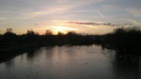 Fiume Exe, Exeter al tramonto Immagini Stock Libere da Diritti