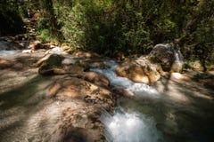 Fiume a flusso rapido della montagna nelle alpi europee Immagine Stock Libera da Diritti