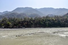 Fiume Gange in Rishikesh, India Fotografia Stock