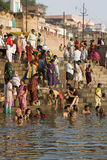 Fiume Ganges Varanasi - in India Immagine Stock