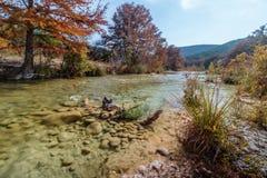 Fiume Garner State Park di Frio nel Texas fotografia stock libera da diritti