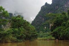 Fiume in giungla Fotografia Stock Libera da Diritti