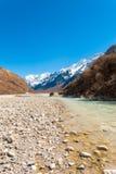 Fiume himalayano V della catena montuosa della valle di Langtang Immagine Stock