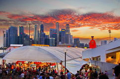 Fiume Hongbao Singapore Fotografia Stock Libera da Diritti