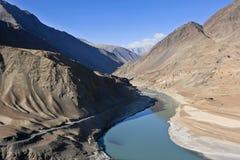 Fiume Indo, Himalaya Immagine Stock Libera da Diritti