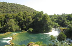 Fiume Krka nel Croatia Immagine Stock Libera da Diritti