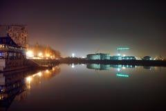 fiume Kuban alla notte Fotografia Stock