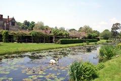 Fiume l'Eden in Hever Rd, Hever, Edenbridge, Risonanza, Inghilterra Fotografia Stock