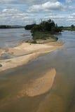 Fiume la Loira alla Pouilly-Sur-Loira, Borgogna, Francia Fotografia Stock Libera da Diritti