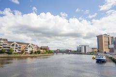 Fiume Lagan a Belfast Fotografie Stock