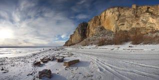 Fiume Lena, Yakutia Russia Immagini Stock Libere da Diritti