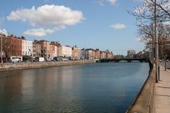 Fiume Liffey in città di Dublino Fotografie Stock
