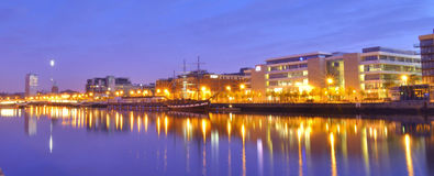 Fiume Liffey Dublino Fotografie Stock Libere da Diritti