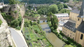 Fiume Lussemburgo di Alzette Immagini Stock