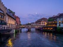 Fiume malato in Petite France, Strasburgo Fotografie Stock Libere da Diritti