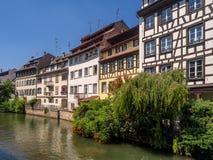 Fiume malato in Petite France, Strasburgo Immagini Stock Libere da Diritti