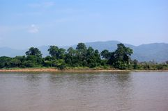 Fiume Mekong Fotografia Stock Libera da Diritti