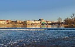fiume moldovan a Praga Fotografia Stock Libera da Diritti