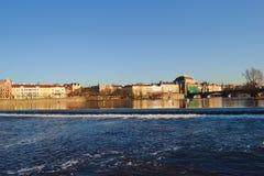 fiume moldovan a Praga Fotografie Stock Libere da Diritti