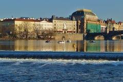 fiume moldovan a Praga Fotografia Stock