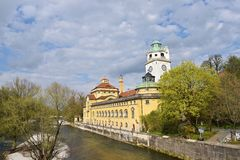 Fiume Monaco di Baviera di Isar Fotografia Stock Libera da Diritti