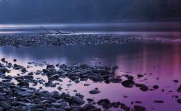 Fiume Mura alla notte Fotografia Stock