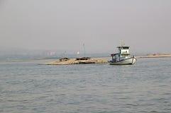 Fiume Myanmar di Irrawaddy fotografia stock libera da diritti