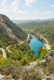 Fiume nel canyon di Koprulu Immagine Stock