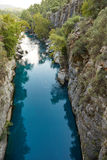 Fiume nel canyon di Koprulu Fotografia Stock