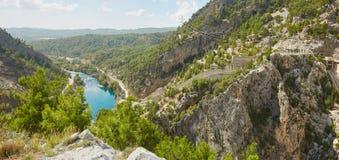 Fiume nel canyon di Koprulu Fotografie Stock