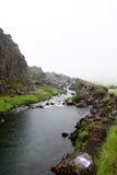 Fiume nel parco nazionale di Þingvellir Fotografia Stock Libera da Diritti