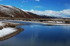 Fiume nel Tibet Fotografie Stock Libere da Diritti