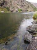 Fiume nero del canyon fotografie stock libere da diritti