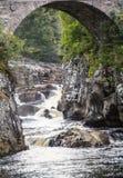 Fiume nero dell'acqua, Scozia Fotografia Stock