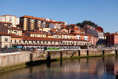 Fiume Nervion, Bilbao, Spagna Fotografie Stock