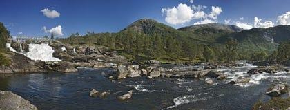 Fiume norvegese fotografia stock libera da diritti
