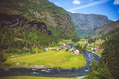 Fiume in Norvegia Fotografia Stock Libera da Diritti