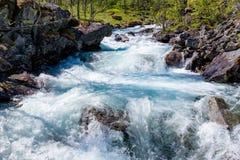 Fiume in Norvegia Immagini Stock