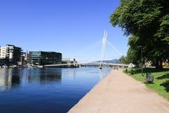 Fiume Norvegia di Drammen Fotografia Stock Libera da Diritti