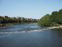 River Po in Turin. Fiume Po meaning River Po in Turin, Italy Stock Photos