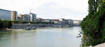 Fiume Po, Torino Fotografia Stock