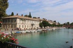 Fiume (river) Mincio, Peschiera Del Garda, Italy Stock Photos