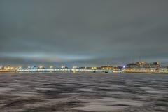 Fiume in San Pietroburgo, Russia di Neva di bella vista Immagine Stock
