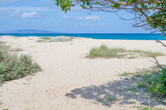 Fiume Santo beach on a clear spring day Stock Photo
