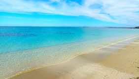 Fiume Santo beach on a cloudy day Royalty Free Stock Photo